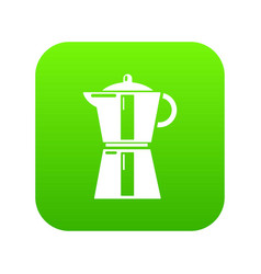kettle element icon green vector image