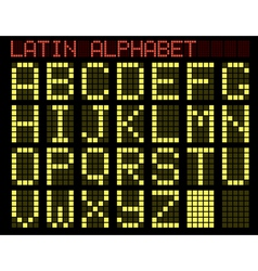 Latin alphabet indicator vector