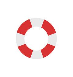 Lifebuoy emblem cartoon isolated icon vector