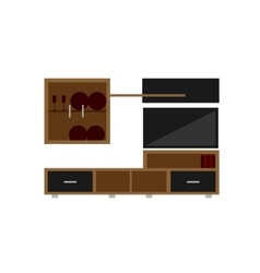 living room set on white background flat vector image