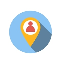 Location people flat icon vector