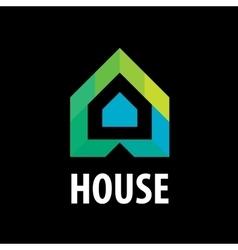 logo house in form arrows vector image