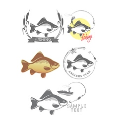 Logo on fishing vector