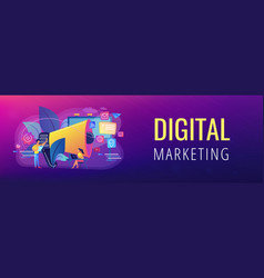 Marketing concept banner header vector