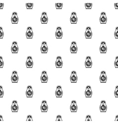 Matryoshka pattern simple style vector image