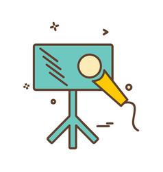 Media icon design vector