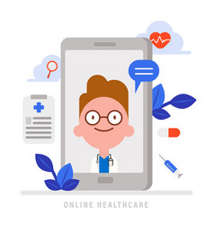 online medical health care concept medical vector image