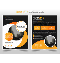 Orange circle annual report leaflet brochure vector