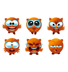 owl emoticons vector image