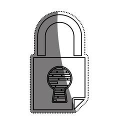 padlock security digital vector image