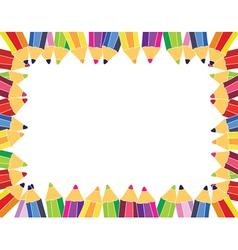 Pencil frame vector