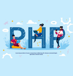 Php programming language and software development vector