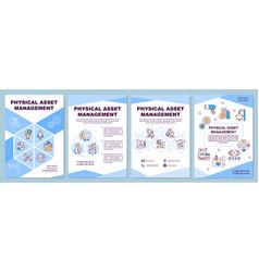 Physical asset management brochure template vector