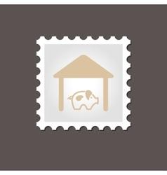 Pigsty stamp Outline vector