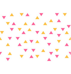 pink yellow colorful abstract triangles retro vector image