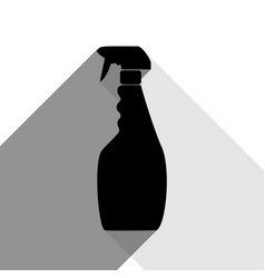 plastic bottle for cleaning black icon vector image