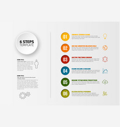 progress six steps template vector image