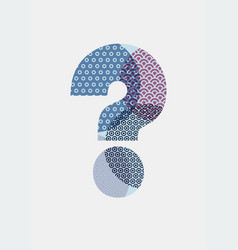 Question mark abstract geometric pattern poster vector