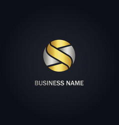 S initial business gold logo vector