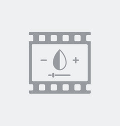 Saturation settings for photo or video vector