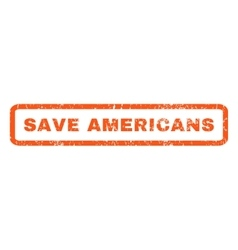 Save Americans Rubber Stamp vector image