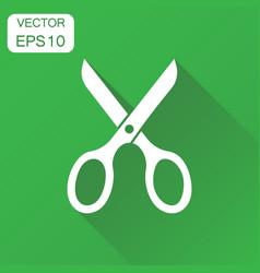 Scissors icon business concept scissor pictogram vector