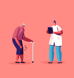 Senior woman with rheumatoid arthritis knee vector
