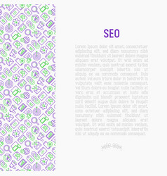 seo and development concept with thin line icons vector image