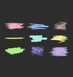 Set of scribble smears pastel vector