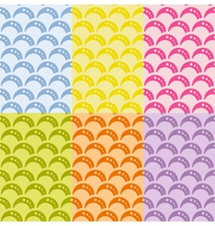 Set of seamless geometric pattern with waves vector image