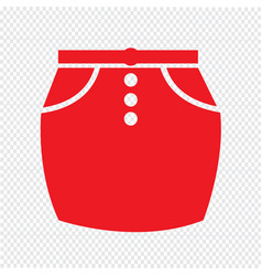 Skirts icon sign design vector