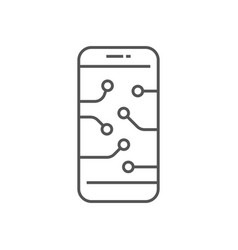 smartphone device icon digital technology ai vector image
