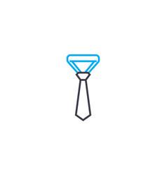 solid tie thin line stroke icon solid tie vector image