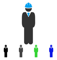 Standing engineer flat icon vector