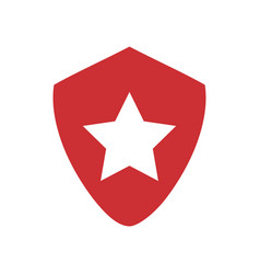 star on shield symbol vector image