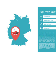 stuttgart map infographic vector image