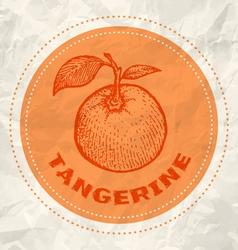 Tangerine vintage paper vector