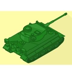 Tank isometric flat 3d vector