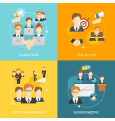 Teamwork icons flat vector image