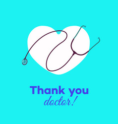 Thank you doctors card vector