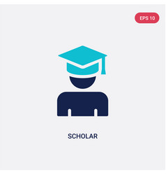 Two color scholar icon from education concept vector
