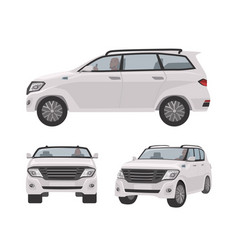 White off-roader cuv car or automobile isolated vector