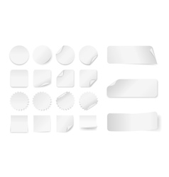 White paper stickers vector image