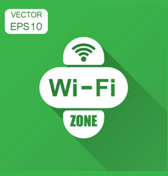 wifi zone internet sign icon in flat style wi-fi vector image