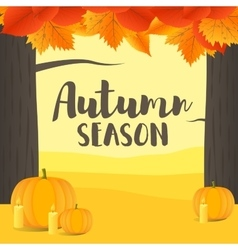 with Autumn landscape vector image