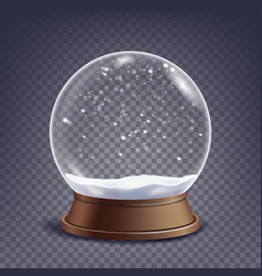 xmas empty snow globe winter christmas vector image