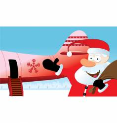 christmas travel vector image vector image