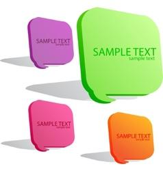 colorful speech bubble set vector image