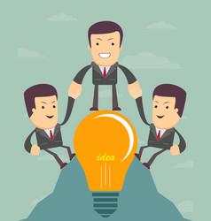 Icon success increase concept vector
