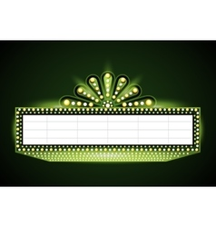 Brightly theater glowing green retro cinema neon vector image vector image